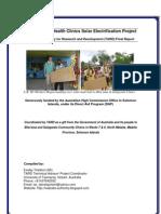 North Malaita Clinic Solar Project