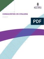Consultation on Stalking