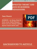 Team Pheonix Towards Improved Theory FINAL