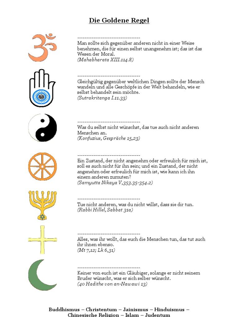 Goldene Regel - Arbeitsblatt