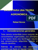 Bases Para Una Teoria Agronomic A