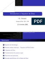 Chatelainpres Introduction a Equation de Dirac