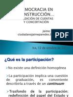 La Participacion Ciudadana y La Concertacion - Jaime Paredes Calla