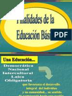 finalidades de la educación básica