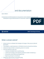 Version Control and System Documentation using Subversion and Cube