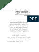 Interpretación constitucional y alquimia constitucional-El arsenal argumentativo de los Tribunales Supremos-Néstor Pedro Sagüés