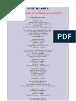 Roxette Lyrics