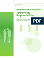 OPCC - 2009 - PIPEDA - Your Privacy Responsibilities