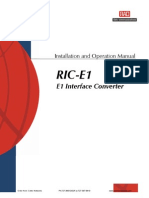 RIC E1 Manual