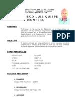 Curriculum Vitae Quispe Montero 20091