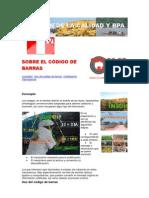 SOBRE EL CÓDIGO DE BARRAS