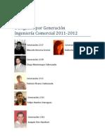 Delegados por Generación Ingeniería Comercial Utalca 2011/12