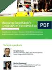 Measuring Social Media Contribution to the Bottom Line - Virtual Workshop