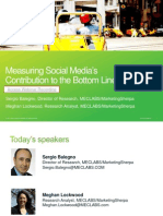 Measuring Social Media Contribution to the Bottom Line - Virtual Workshop