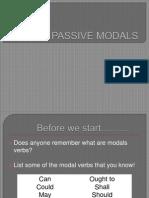 Passive Modals