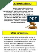 AMPARO SOBREVENIDO