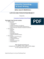 Sample Grant Proposal Wind Energy Low Income