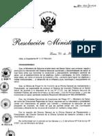 RM304-2011-MINSA DA175-Minsa, Directiva para el Seguimiento de los Proyectos de Inversion Publica en Salud.