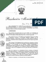 RM313-2011-MINSA NTS090-Minsa, Examenes Medicos Ocupacionales para los estibadores terrestres y transportistas manuales.