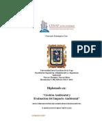 Diplomado de Gestion Ambiental e Impacto Ambiental