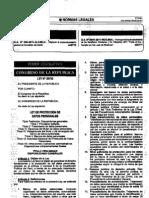 Ley29733, Ley de Proteccion de Datos Personales.