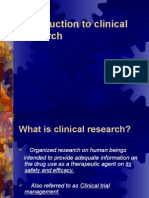 Introduction to Clinical Research CLASS 1