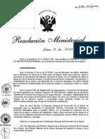 RM528-2011-MINSA Promocion de Practicas y Entornos Saludables para el Cuidado Infantil.