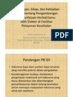 2. Pandangan Dan Sikap PB IDI Tentang an Pemanfataan