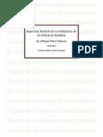 Aspectos históricos o evolutivos de la violencia familiar