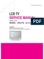 Service Manuals LG TV LCD 26LC7D 26LC7D Service Manual