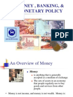 Money , Banking, & Monetary Policy