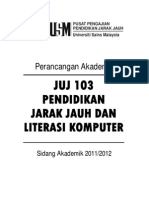 JUJ103 - PJJ & Literasi Komputer