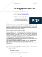 Implement a Ion of Lean Manufacturing in Auto Industry