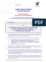 Dicipline Specific Guidelines - Electrical Engineering