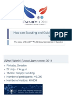 The Case of the 22nd World Scout Jamboree in Sweden