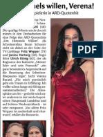 """Verena Buratti in """"Um Himmels Willen"""" - Dolomiten 15.11.11 - Ausschnitt"""