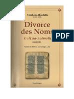 DIVORCE DES NOMS - GUET HA-SHÉMOTH, abraham aboulafia