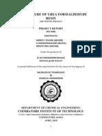 THESIS;Production of Urea,Formaldehyde & Urea Formaldehyde Resin