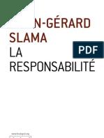 La responsabilité - Alain-Gérard Slama