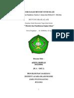 TEORI DASAR METODE STUDI ISLAM (Pembacaan atas Pemikiran Charles J. Adams dan Richard C. Martin)