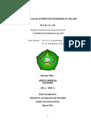 Supervisi Pendidikan Islam Konsep Dasar Supervisi Pendidikan Islam Pps Iain Tulungagung Oleh Afiful Ikhwan