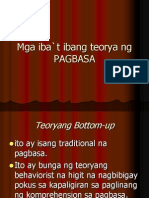 Mga Iba`t Ibang Teorya Ng PAGBASA