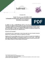 DP - Etude 1 an Balinea - Les Francais Et Leurs Corps - Nov. 11