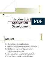 Chapter 1 - Introduction to Application Development