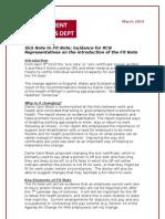ERD Fit Note Briefing 11-3-10