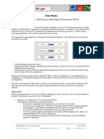 Consultancy Case Study - Setting Up a Strategic Programme Office