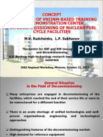 Concept of creation of VNIINM-BASED training and demonstration center for decommissioning of nuclear fuel cycle facilities