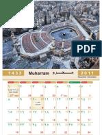 Makkah Islamic Calendar Hijri Calendar 2012 1433