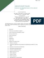 Labour Court Rules