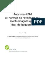 Antennes GSM Et Normes de Rayonnement EM - Etopia - Decembre 2005
